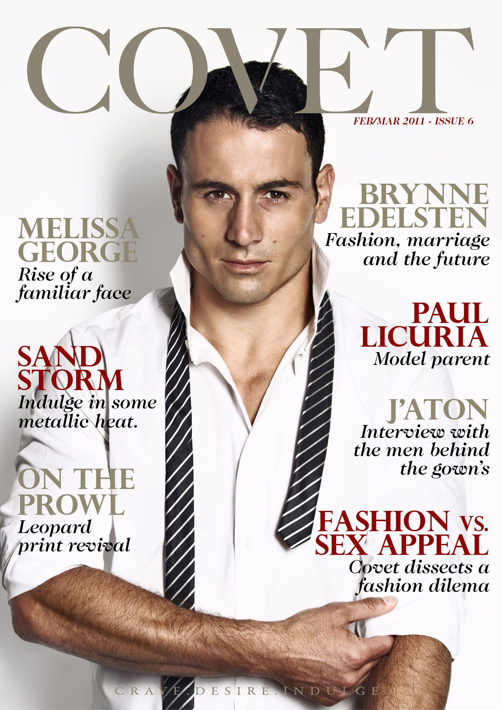 COVET ISSUE 6 - PAUL LICURIA ON COVER